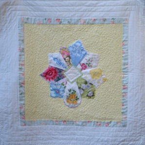quilt from vintage hankies