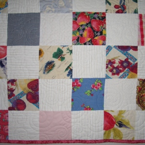 quilt from girls dresses