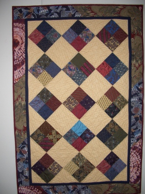 quilt from men's ties