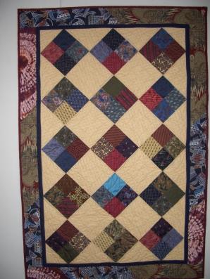 quilt from men's ties