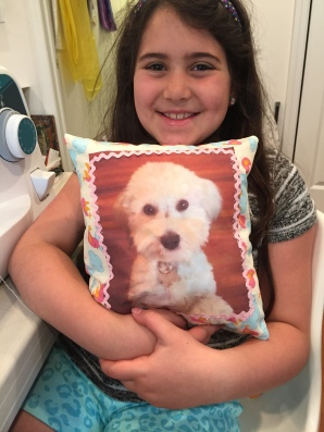 first project: photo pillow!