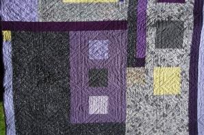 Queen size modern quilt